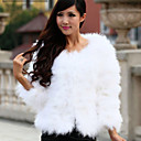 Collarless Collar Long Sleeve Ostrich Fur Evening Jacket(More Colors)