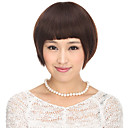 Capless 100% Human Hair Brown Straight Short Hair Wig