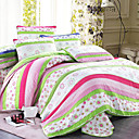 3PCS Floral Pattern Quilted Cotton Full Duvet Cover Set