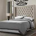 3PCS 100% Linen Solid Grey with Brown Fringe in Garment Wash Duvet Cover Set