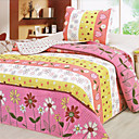3PCS Country Floral Cotton Queen Size Quilt Set
