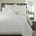 5PCS Classic Solid Quilted Polyester Duvet Cover Set