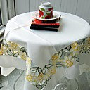 Laser Cut Floral White Cloth Table Cloth