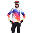 RUSOO CoolDry Men material transpirable de manga larga ciclismo Jersey RS-C008