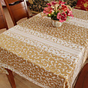 Classic Polyester Cotton Blend Multi-color Jacquard Floral Table Cloths