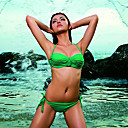 Smart Sexy Solid Color Halter Neck Ruffle Bikini Set