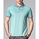 Men's Simple Work Shirt Collar T-shirt