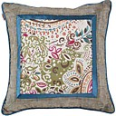Fancy Floral Pattern Decorative Pillow Cover