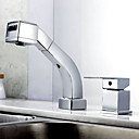 Contemporary Chrome Finish Pull-out Kitchen Faucet
