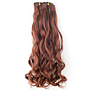 Hoge kwaliteit kunststof 45cm Clip-In Wavy Hair Extension 6 kleuren te kiezen