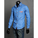 Men's Denim Work Long Sleeve Shirt