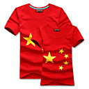 Rojo chino Five Amante modelo de estrellas de 100% algodn camisa (hombres)