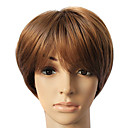 Hot Sale Brown Synthetic Short Straight Hair Wig