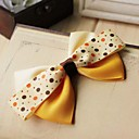 Women's Sweet Handmade Yellow Bow Hair Tie