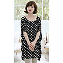 Women's Plus Size Dots Print T-Shirt(Length:75cm)