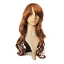Hot Sale Capless Brown Synthetic Long Curly Hair Wig