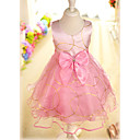Sweet Sleeveless Satin/Tulle Wedding/Evening Flower Girl Dress