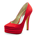 Fashion Satin Stiletto Heel Pumps Wedding Shoes (More Colors)