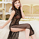 Women's Black Fashion Stripes Gown
