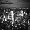 Printed Art Landscape NYC Nights by Nina Papiorek