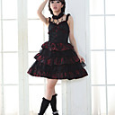 Sleeveless Short Black Cotton Gothic Lolita Jumper Skirt