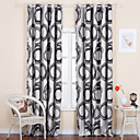 (Two Panels) Contemporary Jacquard Round Energy Saving Curtains