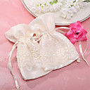 &quot;Spring Flora&quot; Silk Favor Pouches With Lace Covering (Set of 12)