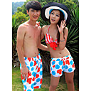 Men's Beach Casual Color Block Trunks