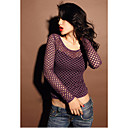Damen Fishnet Sheer Schlank Top