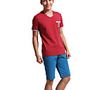 Men's Fashion Casual V-hals Katoen Basic Korte T-shirt Mouw