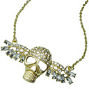 Women's Punk Diamond Skull Alloy Necklace