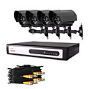 CCTV DVR Kit 4 piezas con 480TVL cmaras CMOS (4 canales de grabacin D1)