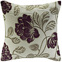 Floral Pattern Jacquard Decorative Pillow Cover