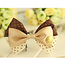 Women's Layered Dot Bow Handmade Hair Tie
