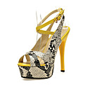 Leatherette Stiletto Heel Sandals With Buckle Party / Evening Shoes (More Colors)