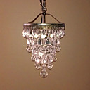 60W Crystal Beaded Modern Pendant with 1 Light and Antique Colour Fixture