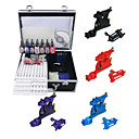 4 Guns (6colors alatoire) de kit de tatouage avec Mini Power et 7 couleurs d'encre + Case