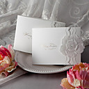 Floral Tri-fold Embossed Wedding Invitation (Set of 50)