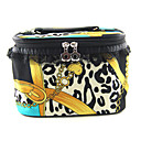 Make up/Cosmetic Bag with Mirror Yellow Lace Leopard Chain Pattern(Random Color,19x13x12cm)