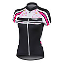 Santic 100% Polyester Fiber Short Sleeve Breathable+Quick-Drying Women Cycling Jersey
