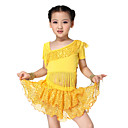 Dancewear Spandex Latin Dance Outfit Top and Skirt For Children