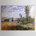 Famous Oil Painting Landscape at Vetheuil by Claude Monet