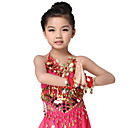 Dancewear Chiffon with Coins and Beadings Belly Dance Top For Children More Colors
