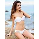 Women's Lovely Cut Out Tie Sexy White Swimwear