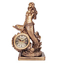 Mermaid Polyresin Table Clock