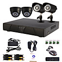4 Channel Home and Office DIY CCTV DVR System(P2P Online,4 D1 Recording)