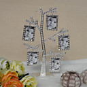 Shining Rhinestone Alloy Family Tree Photo Frame With 5 Hanging Frames