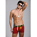 Men's Yellow&Dark Red Underwear