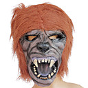 Lycan mit Braunes Haar Gummi Halloween-Maske