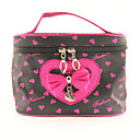 Make up / make-up tas met spiegel Portable strik Loving-heart Pattern (19x13x12cm)